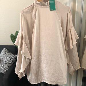 NWT H&M Long sleeve ruffled blouse